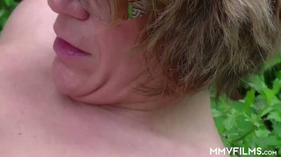 Old bitch Karin seduces farmer and gives him best ever blowjob in his life - 19. pic