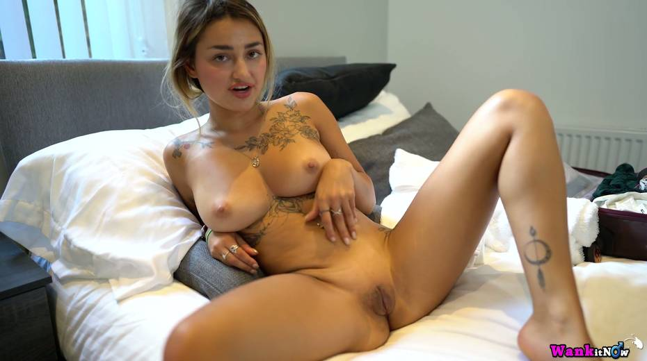 Nice girlfriend Selene gets anked and shows off several sexy tatts - 10. pic