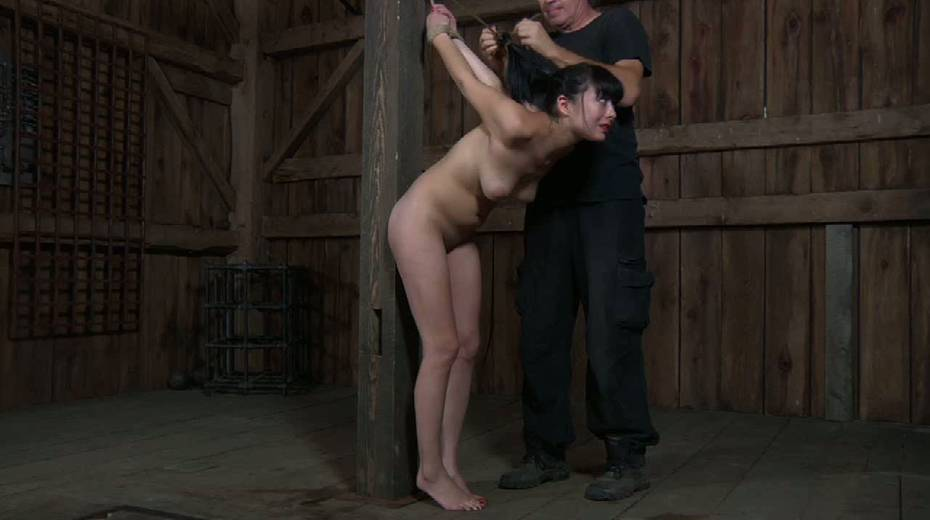 Chick with tied up tits is punished in the basement - 11. pic