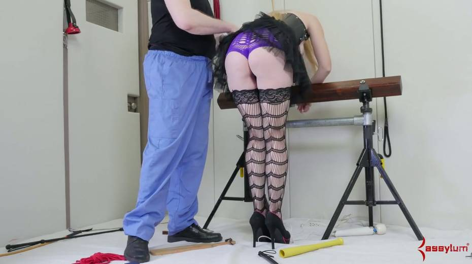Newbie in stockings and sexy outfit gets her face and anus banged by two perverts - 7. pic