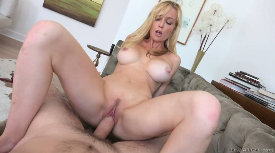 Sexy blonde in crotchless body fishnet Kayden Kross takes big shlong in her gaped anal hole - 12. pic