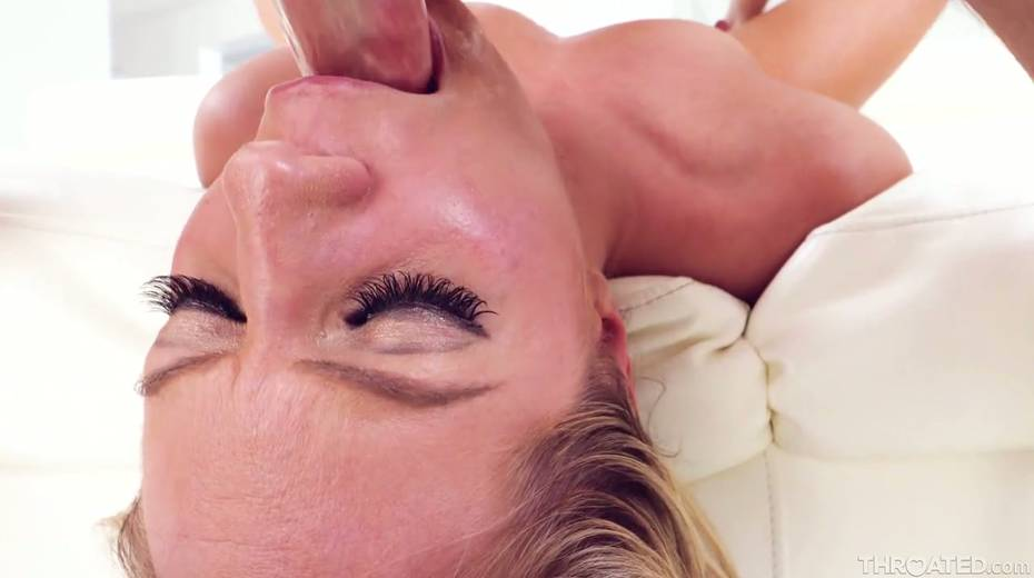 Blond slut Candice Dare swallows huge dick and gets messy facial - 27. pic