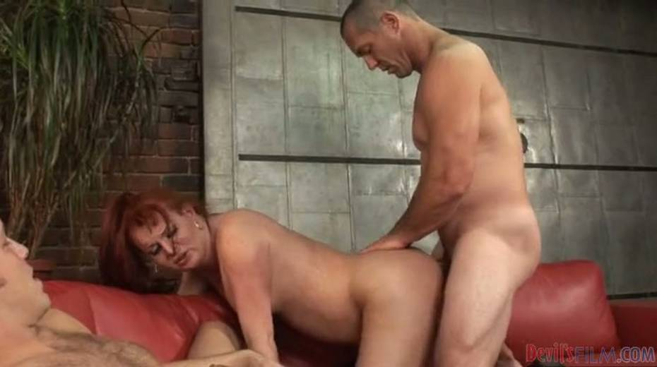 Chubby redhead shemale exploited bad in hardcore threesome - 3. pic