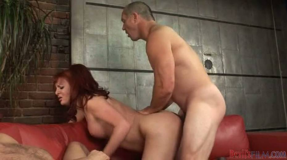 Chubby redhead shemale exploited bad in hardcore threesome - 4. pic
