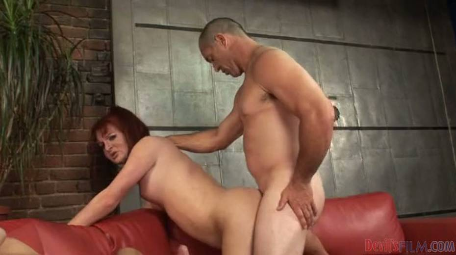 Chubby redhead shemale exploited bad in hardcore threesome - 5. pic