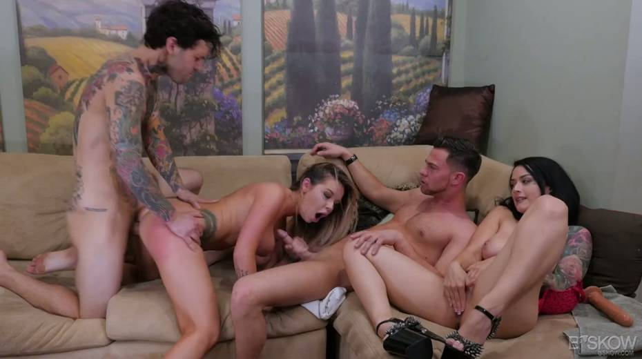Sizzling chick Katrina Jade is taking part in a crazy group sex scene - 7. pic