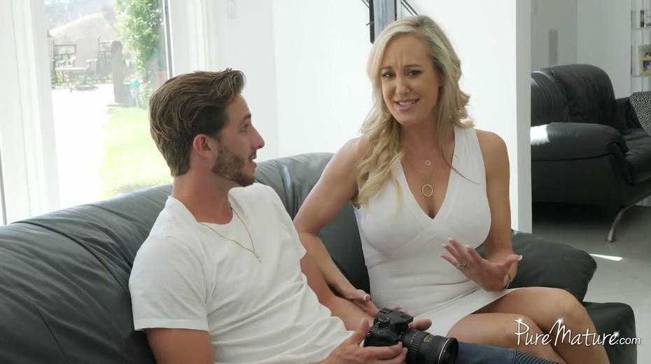 Tantalizing big boobs of Brandi Love dive young