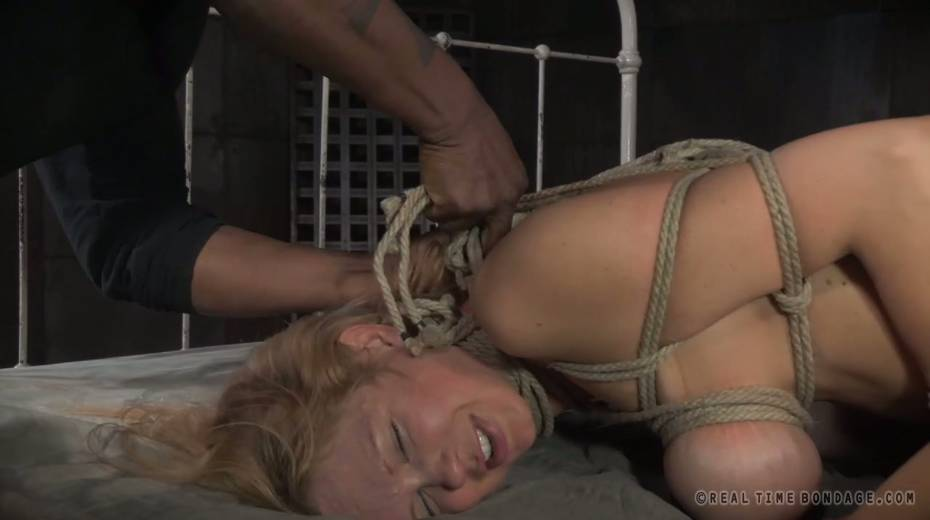 Lustful big boobed slave with tattoos gets brutally fucked by two masters - 5. pic