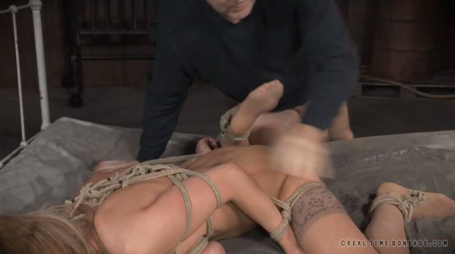 Lustful big boobed slave with tattoos gets brutally fucked by two masters - 8. pic