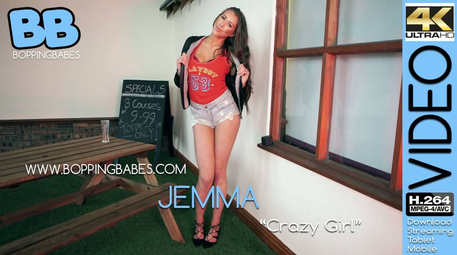 Beautiful leggy babe Jemma gets naked and shows off her yummy snatch - 1. pic