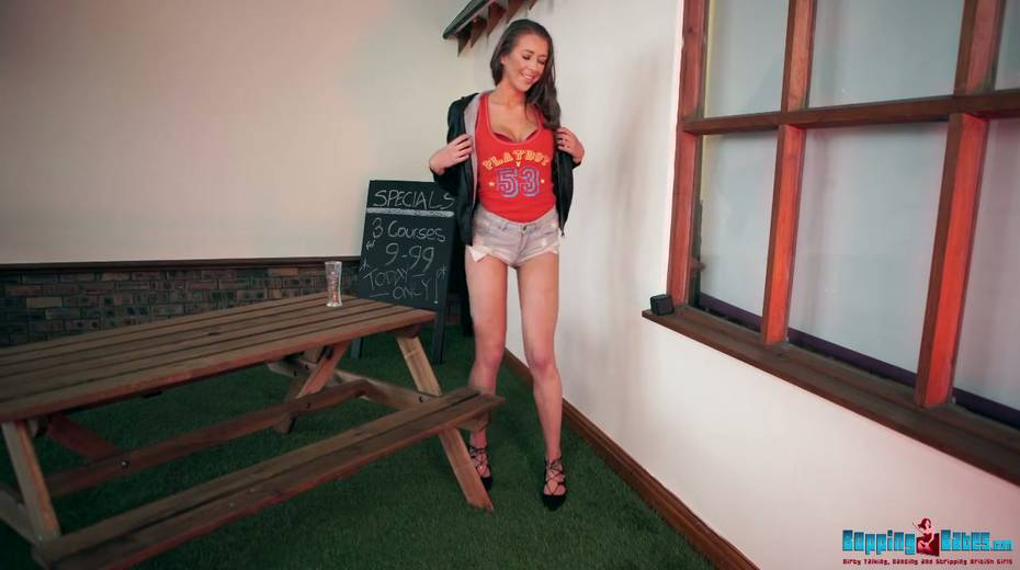 Beautiful leggy babe Jemma gets naked and shows off her yummy snatch - 9. pic