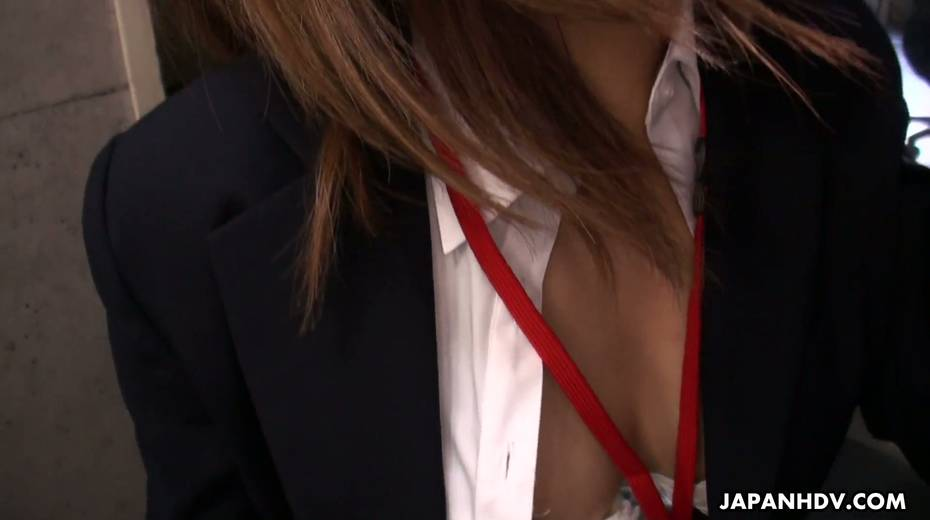 Naughty Asian chick Yuria Takeda gives a blowjob in the interview - 9. pic