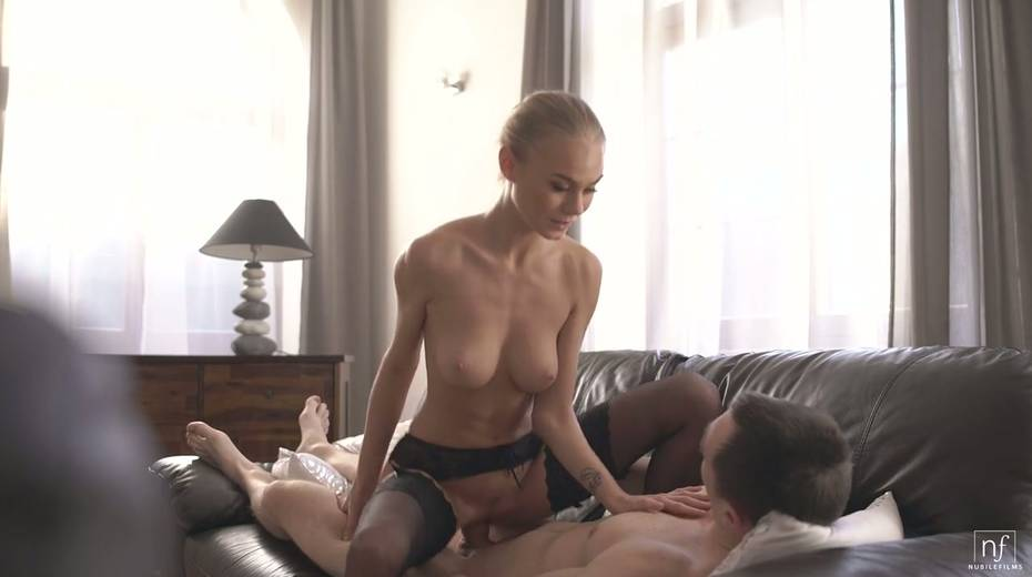 Beautiful and graceful hottie Nancy A rides a dick and gets doggy fucked - 15. pic