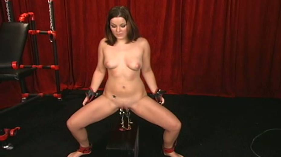 Cunning master uses clover clips on her nipples with some weights - 9. pic