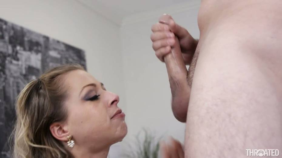 Seductive hoochie Zoey Monroe gives deepthroat blowjob and gets her face rammed - 24. pic