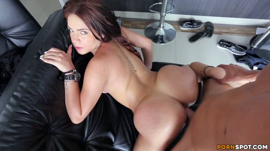 Pretty babe with tan lines Camila twerks her ass in cowgirl pose - 26. pic