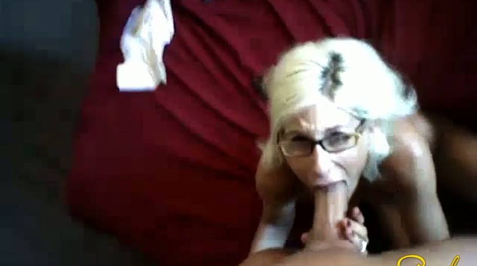 Tanned bosomy blonde sucks her BF's pecker until she gets a facial - 5. pic