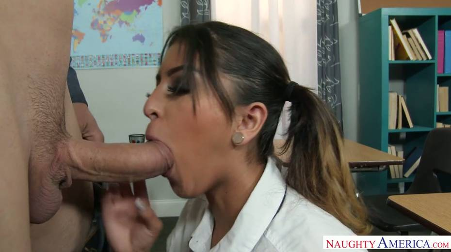 Spoiled college chick Sophia Leone takes teacher's dick in her fresh cunt - 4. pic