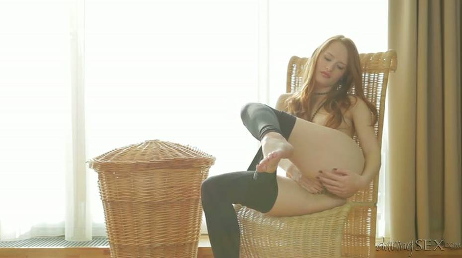 Passionate redhead always looks so hot while playing with herself - 2. pic