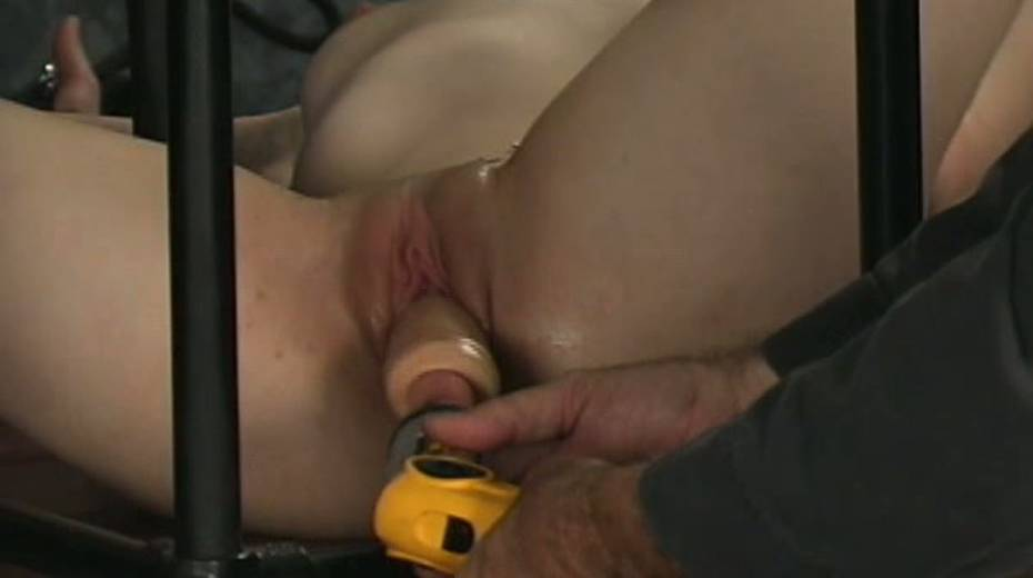Trashy hoe in cage toy fucked intensively in hardcore BDSM clip - 5. pic