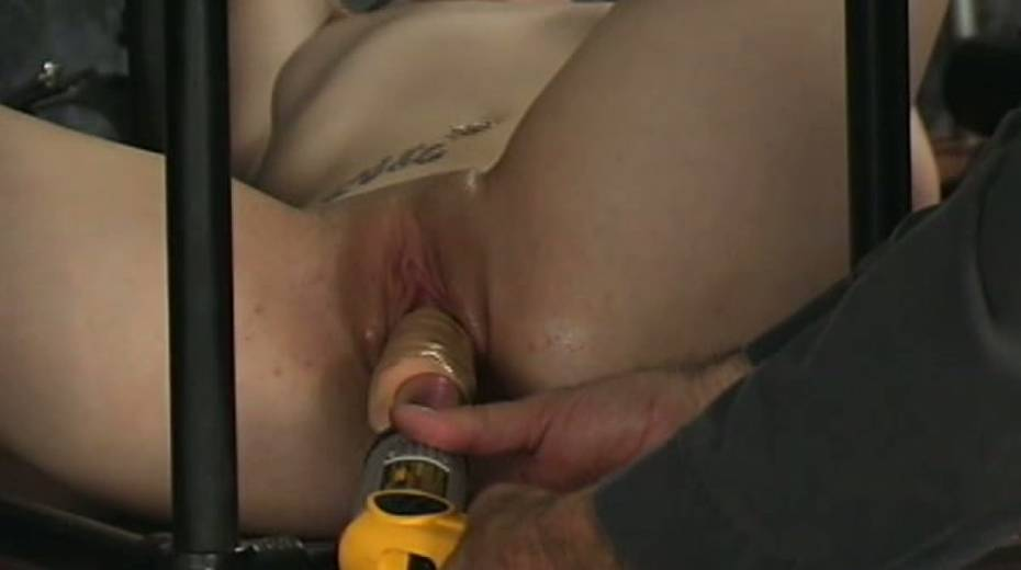 Trashy hoe in cage toy fucked intensively in hardcore BDSM clip - 6. pic