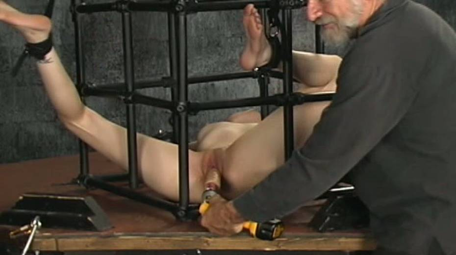 Trashy hoe in cage toy fucked intensively in hardcore BDSM clip - 7. pic