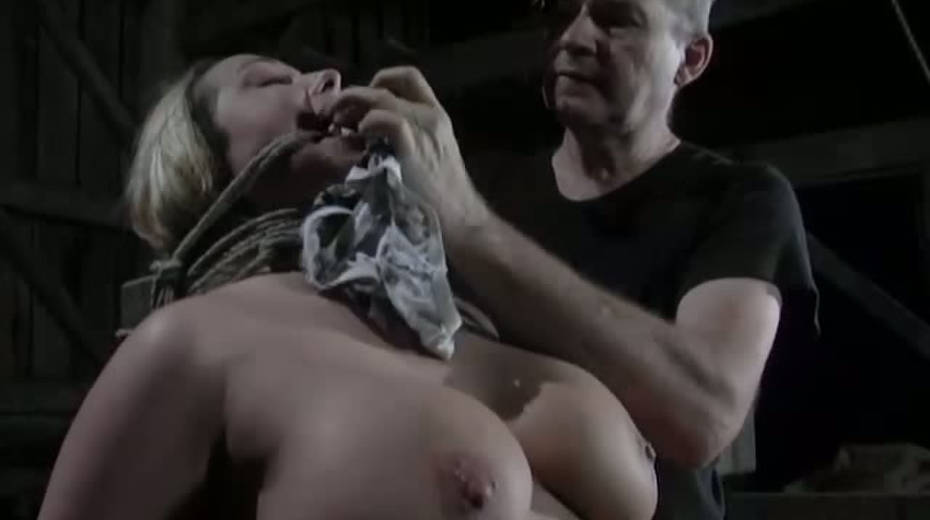 Seductive porn model with big boobs is punished in the basement - 1. pic