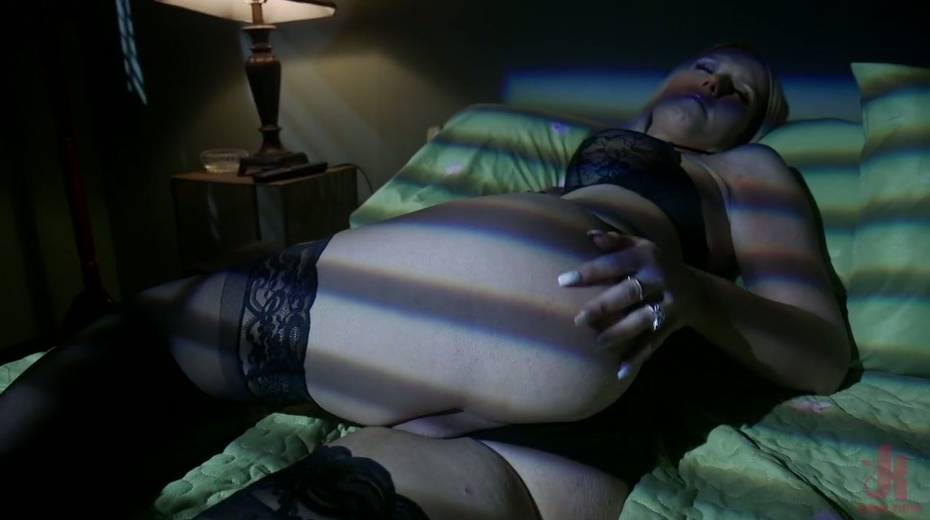 Luscious blonde Kayleigh Coxx is spanked and fucked by horny and hot blooded ladyboy - 1. pic