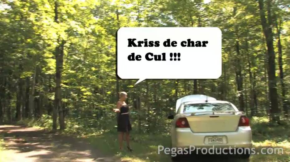 Juggy elder girlfriend Alyson Queen gives a blowjob and titjob in the forest - 1. pic