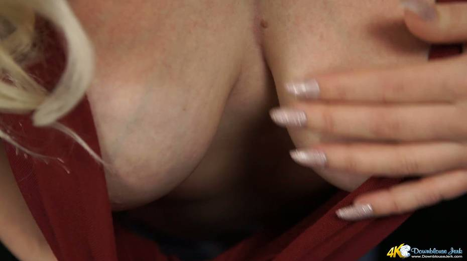 Beautiful blond bitch Megan shows off her juicy ripe tits - 15. pic