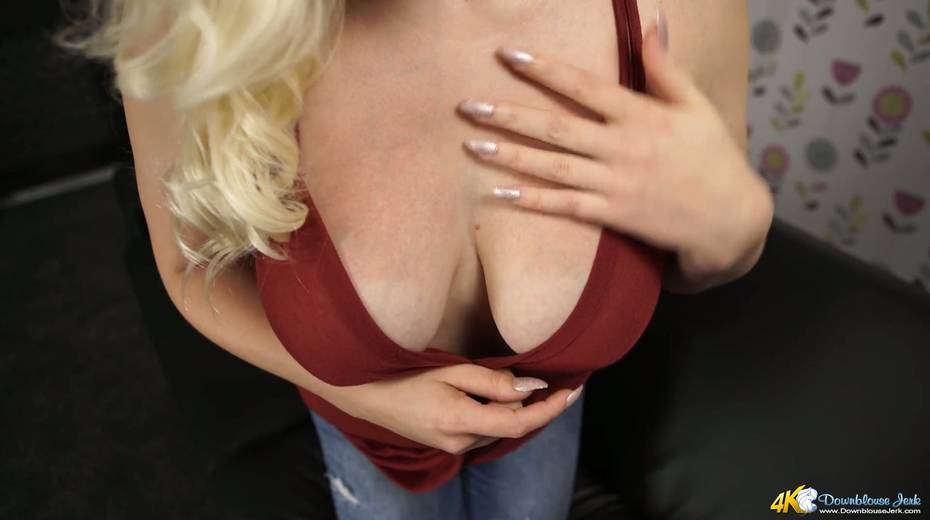Beautiful blond bitch Megan shows off her juicy ripe tits - 16. pic