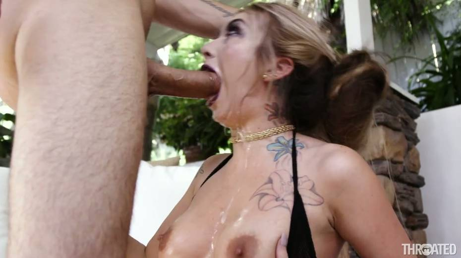 Kinky bitch Kat Dior is fucked in her bottomless throat - 15. pic