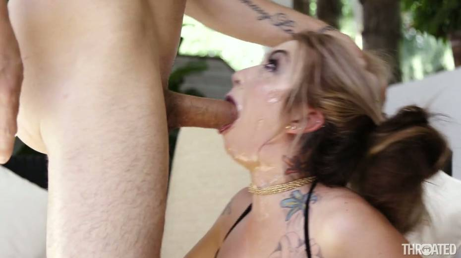 Kinky bitch Kat Dior is fucked in her bottomless throat - 27. pic