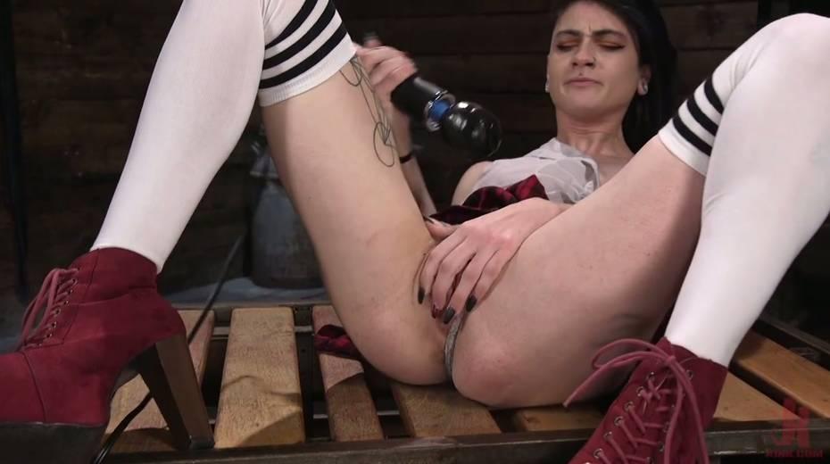 Informal girl Lydia Black is testing crazy fucking machine and new vibrator - 12. pic
