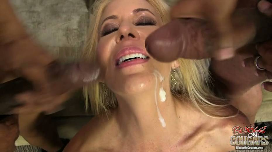 White whore Erica Lauren is taking two big black hoses in threesome scene - 15. pic