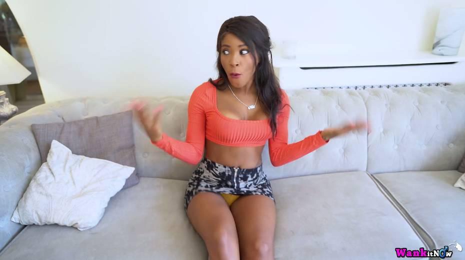 Concupiscent ebony model Kiki Minaj gets her boot fucked and jizzed - 2. pic