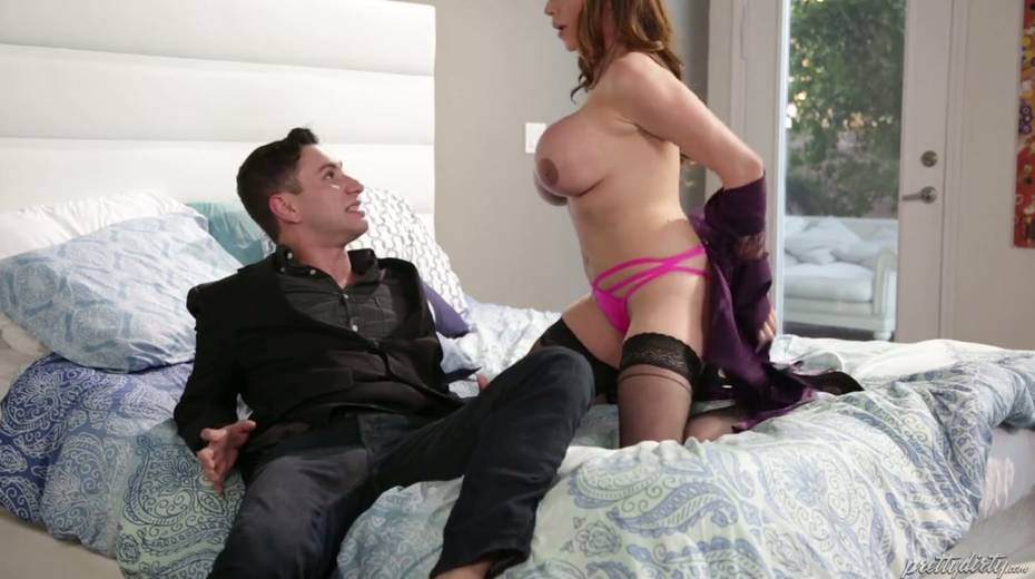 Fucking hot red haired milf Ariella Ferrera enjoys having passionate sex - 6. pic