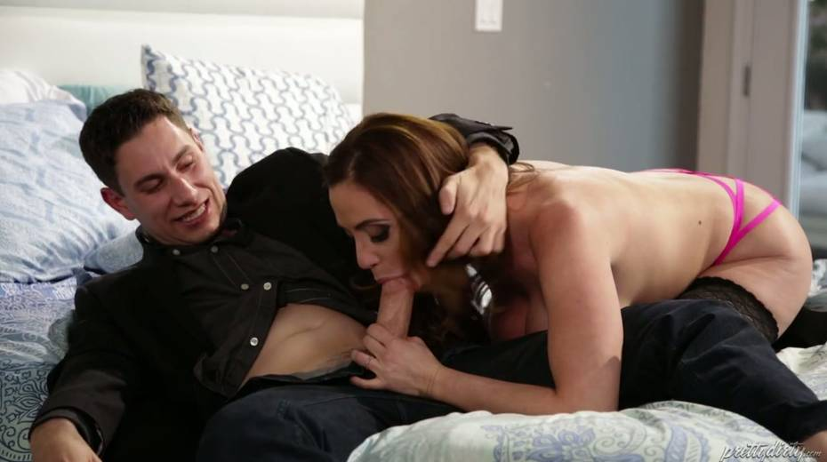 Fucking hot red haired milf Ariella Ferrera enjoys having passionate sex - 8. pic