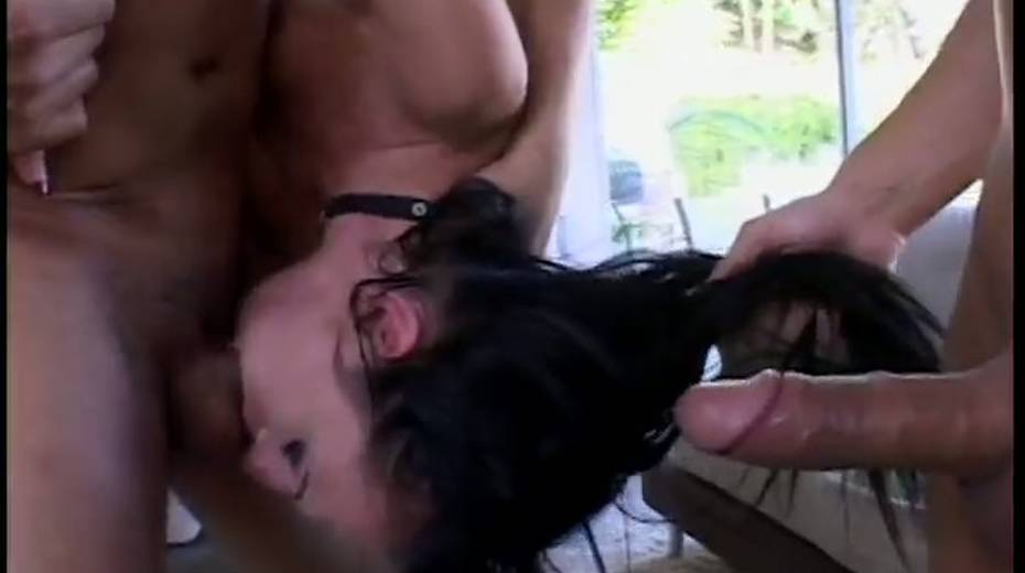 Skinny porn bitch double penetrated in hardcore threesome action - 5. pic