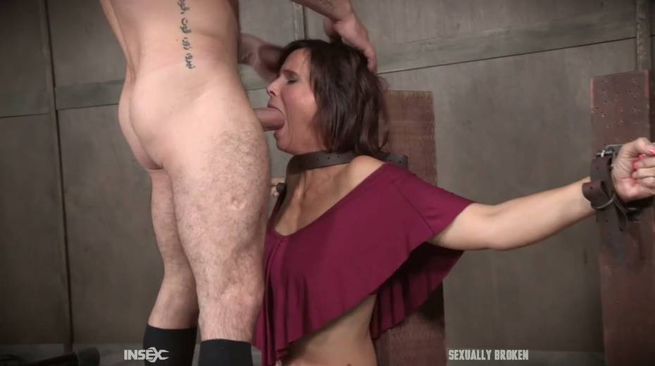 Two kinky dudes fuck nasty busty milf Syren De Mer and punish her holes - 2. pic