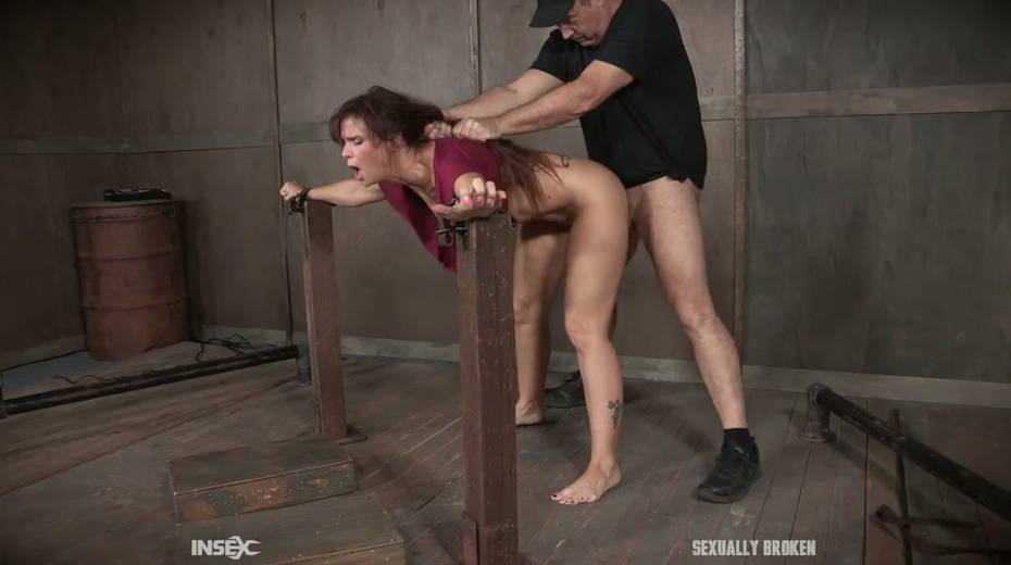 Two kinky dudes fuck nasty busty milf Syren De Mer and punish her holes - 7. pic