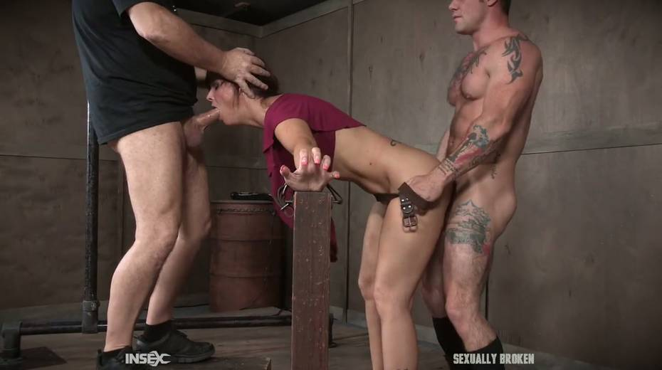 Two kinky dudes fuck nasty busty milf Syren De Mer and punish her holes - 11. pic