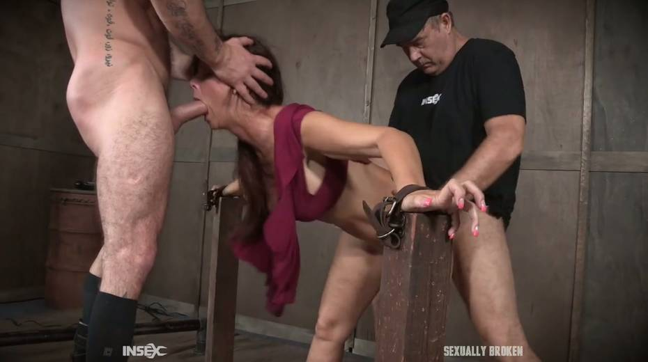 Two kinky dudes fuck nasty busty milf Syren De Mer and punish her holes - 13. pic
