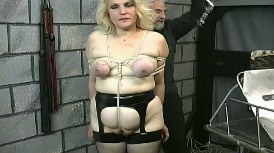 Obese slut with tied up boobs is punished in the bdsm room - 3. pic