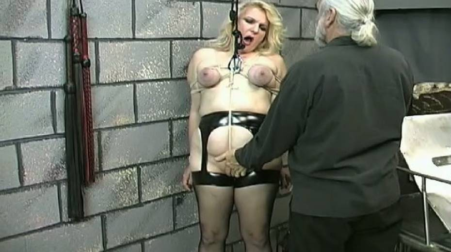 Obese slut with tied up boobs is punished in the bdsm room - 7. pic
