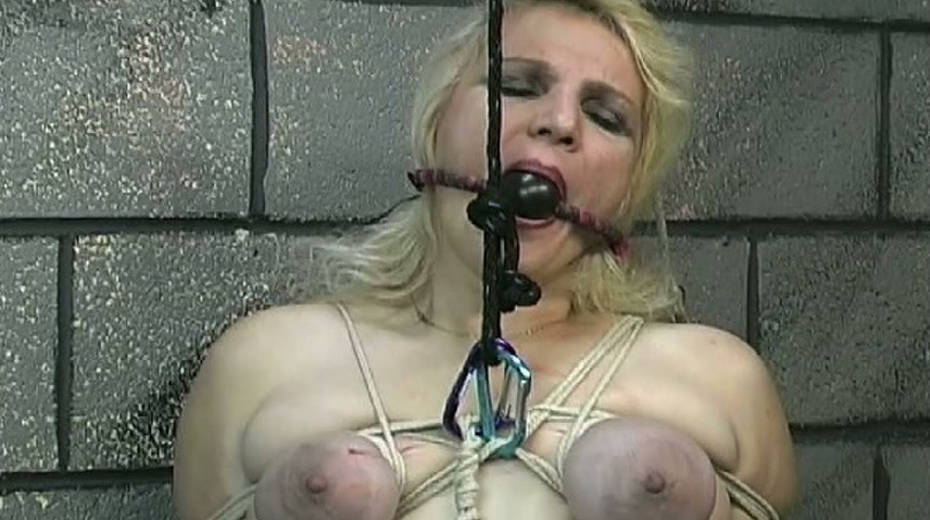 Obese slut with tied up boobs is punished in the bdsm room - 9. pic