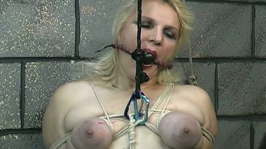 Obese slut with tied up boobs is punished in the bdsm room - 10. pic