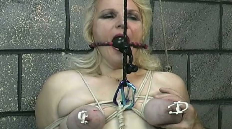 Obese slut with tied up boobs is punished in the bdsm room - 12. pic