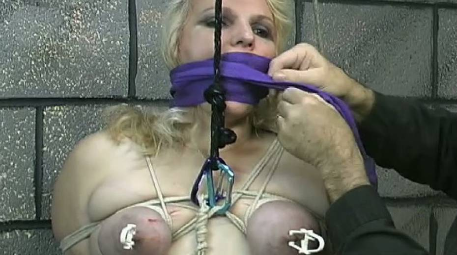 Obese slut with tied up boobs is punished in the bdsm room - 13. pic