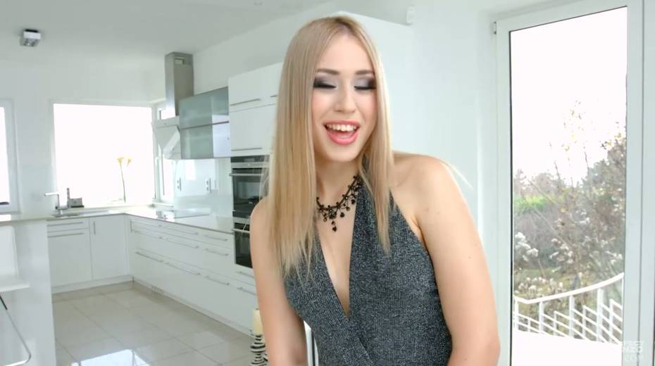 Captivating skinny chick Alana Moon teases camera and gets her anus stretched - 1. pic